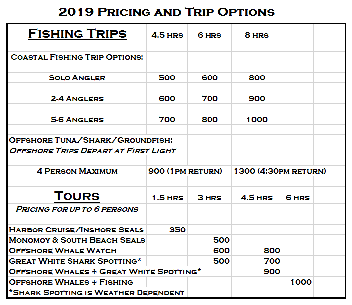2019 price chartart